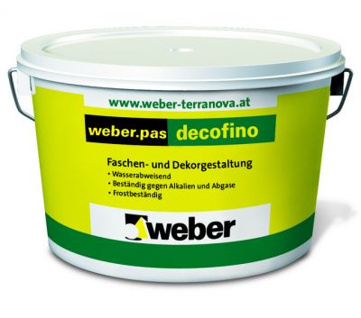 Weber pas decofino Декоративная штукатурка (25 кг)