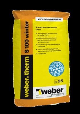 Weber Therm S100 winter клей для теплоизоляции (25кг)